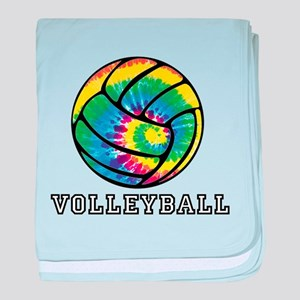 Tie Dyed Volleyball baby blanket