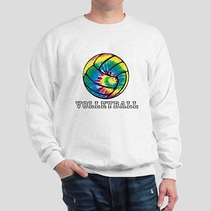 Tie Dyed Volleyball Sweatshirt