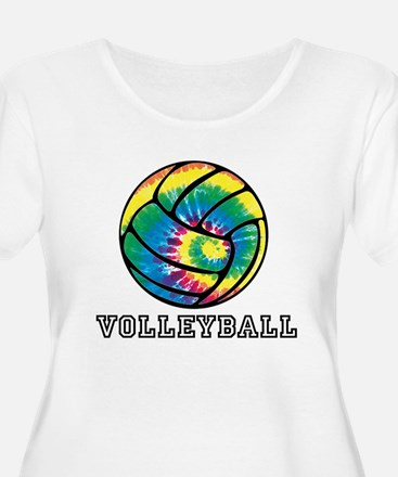Tie Dyed Volleyball Plus Size T-Shirt
