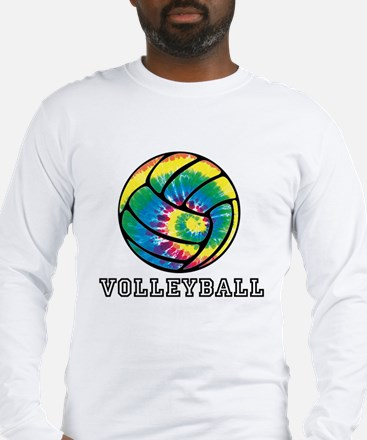 Tie Dyed Volleyball Long Sleeve T-Shirt
