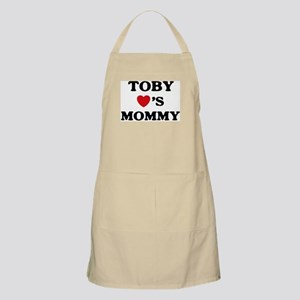 Toby loves mommy BBQ Apron