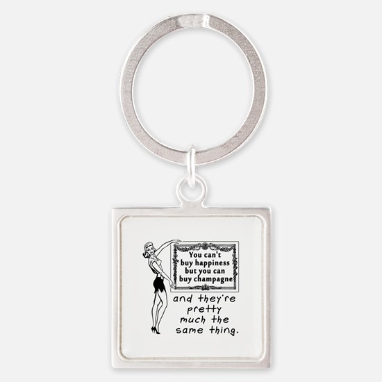 Cool Happiness Square Keychain
