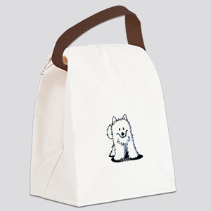 Japanese Spitz Canvas Lunch Bag