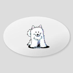Japanese Spitz Sticker (Oval)