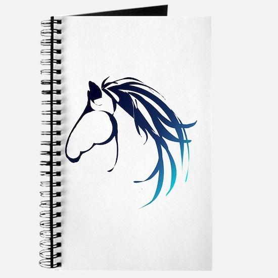 Classic Blue Horse Head Logo Journal