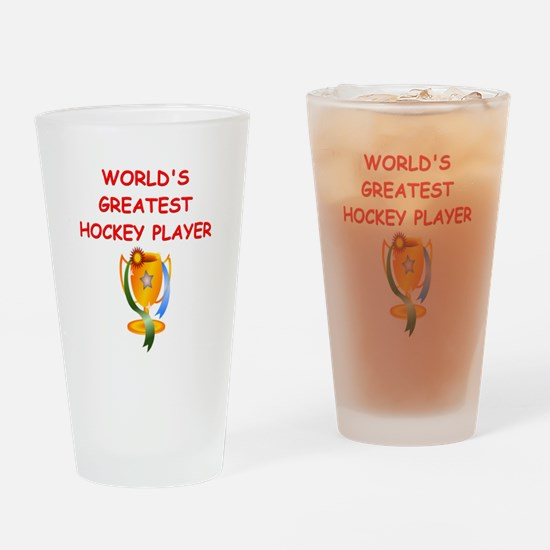 HOCKEY4 Drinking Glass