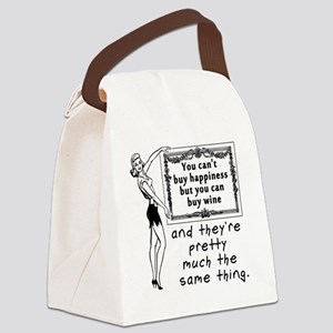 Wine Happiness Canvas Lunch Bag