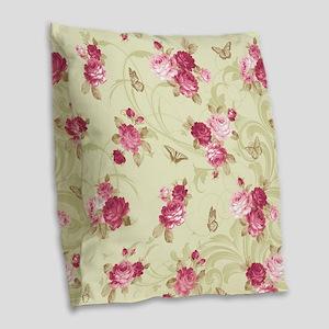 Madame Butterfly Burlap Throw Pillow