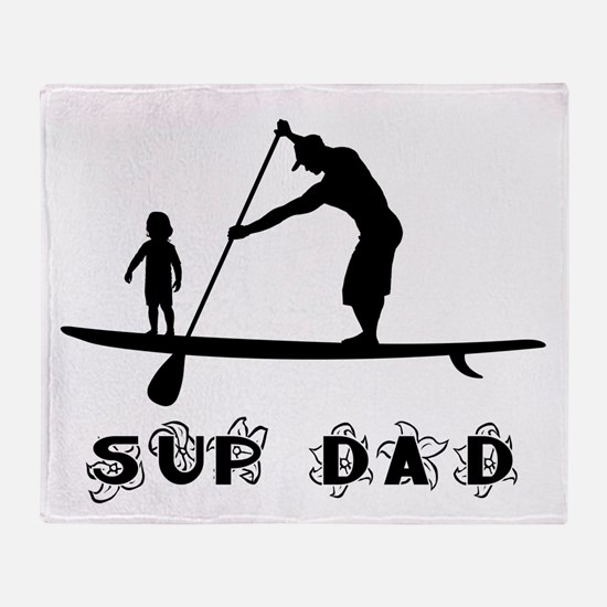 SUP_DAD Throw Blanket