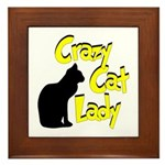 Crazy Cat Lady Framed Tile