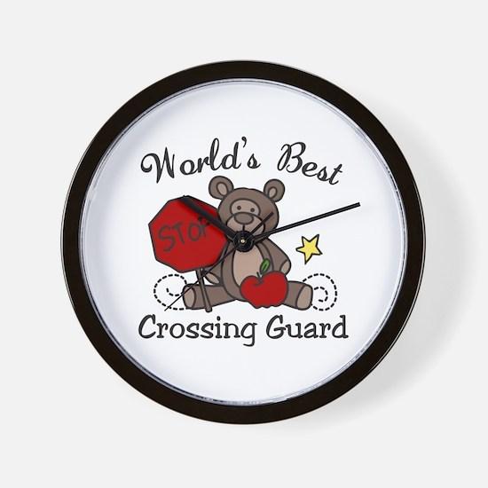 Worlds Best Crossing Guard Wall Clock