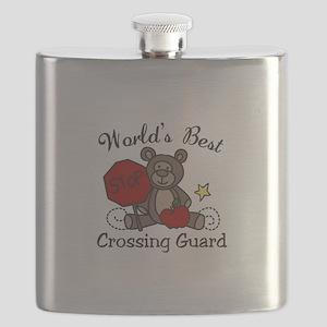 Worlds Best Crossing Guard Flask