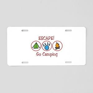 Go Camping Escape! Aluminum License Plate