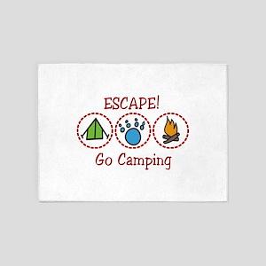 Go Camping Escape! 5'x7'Area Rug