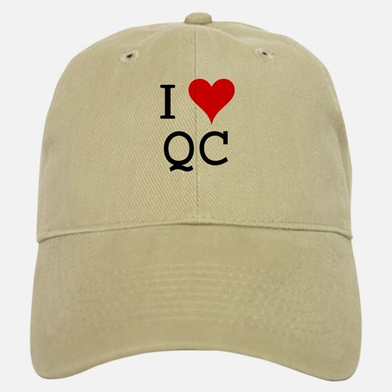 I Love QC Baseball Baseball Cap