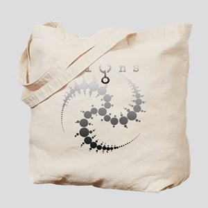 Spiral Crop Circle Grey Tote Bag
