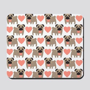 Pugs And Hearts Mousepad