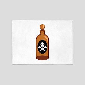 Poison Bottle Skull Crossbones 5'x7'Area Rug