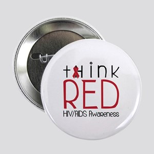 """tHink RED 2.25"""" Button"""