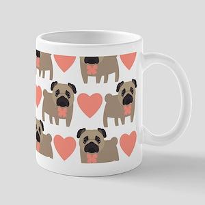 Pugs And Hearts Mugs