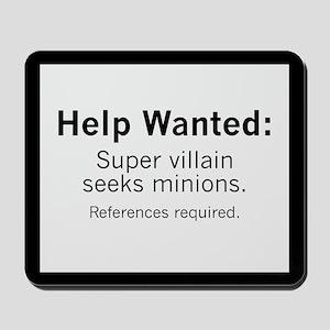 Minions Wanted Mousepad