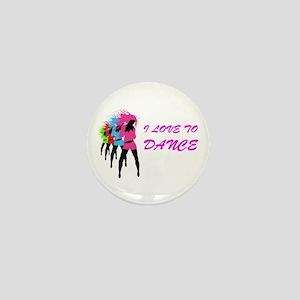 I Love To Dance Mini Button