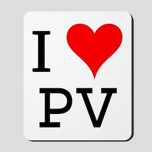 I Love PV Mousepad