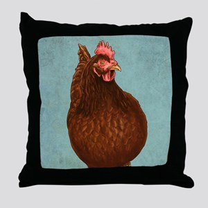 Rhode Island Red Throw Pillow