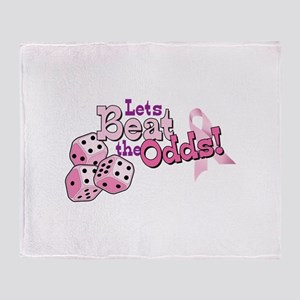 Lets Beat the Odds! Throw Blanket