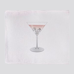Bunco Martini Throw Blanket