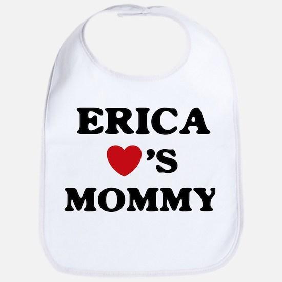 Erica loves mommy Bib