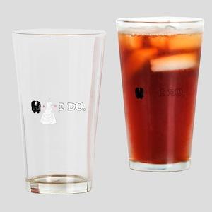 I DO. Drinking Glass