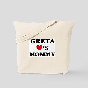 Greta loves mommy Tote Bag