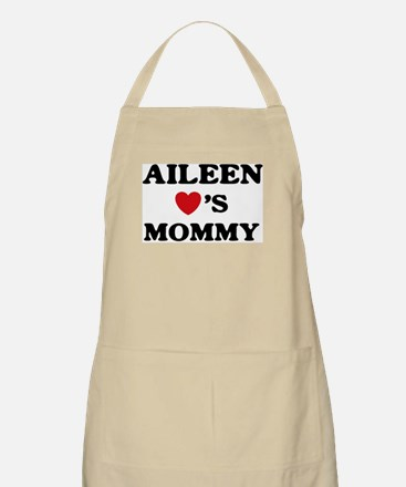 Aileen loves mommy BBQ Apron