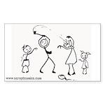 Zombie Stick Figure Family Bumper/window Sticker