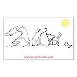 Werewolf Stick Family Bumper/window Sticker