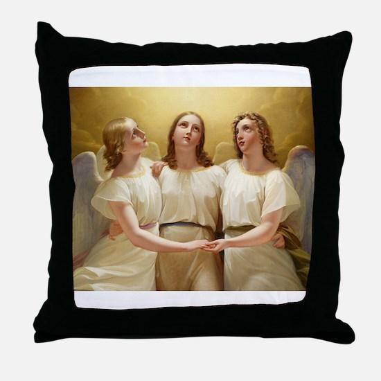 Kadik - three Angels - 1822 - Painting Throw Pillo