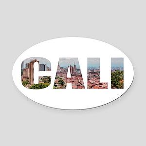 Cali Oval Car Magnet