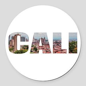Cali Round Car Magnet