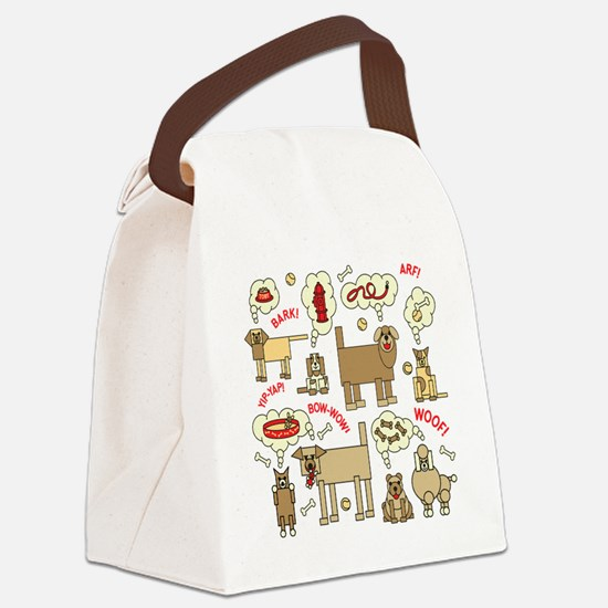 What Dogs Think Canvas Lunch Bag