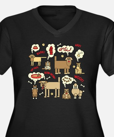 What Dogs Th Women's Plus Size V-Neck Dark T-Shirt