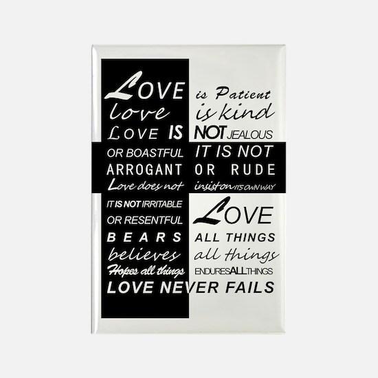 Love is Patient Rectangle Magnet