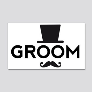Groom with hat and mustache Wall Decal