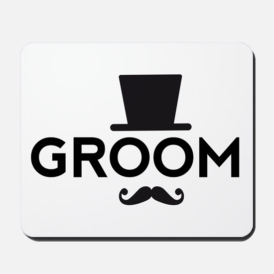 Groom with hat and mustache Mousepad