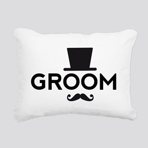 Groom with hat and mustache Rectangular Canvas Pil