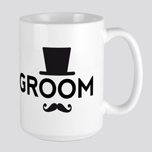 Groom with hat and mustache Mugs