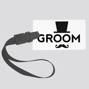 Groom with hat and mustache Luggage Tag
