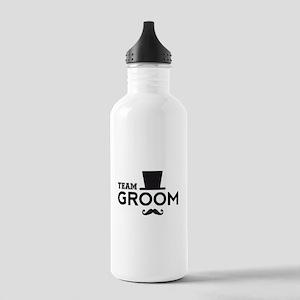 Team groom, hat and mustache Water Bottle