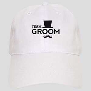 Team groom, hat and mustache Baseball Cap