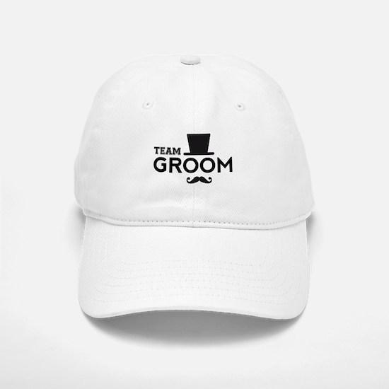 Team groom, hat and mustache Baseball Baseball Baseball Cap